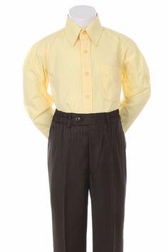 Boys Yellow Formal Dress Shirt  #onlinestore #canada #fashionista #shoppingonline #canadaonline #kidsclothes #shopping #shoppingday #instagram #Oasislync