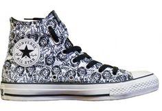 I wantz! Converse Chuck Taylor All Star Hi Top Ozzy Osbourne Doodles White/ Black