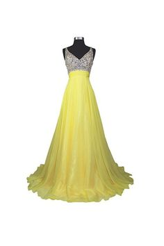 Prom Dress Princess, A Line V-neck Formal Chiffon Prom Dresses Evening Dresses Prom Dress Shop ball gown prom dresses and gowns and become a princess on prom night. prom ball gowns in every size, from juniors to plus size. Cute Bridesmaid Dresses, V Neck Prom Dresses, Long Prom Gowns, Chiffon Evening Dresses, A Line Prom Dresses, Prom Party Dresses, Dress Prom, Dresses Uk, Graduation Dresses