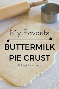 My favorite flaky delicious buttermilk pie crust (made with a food processor). This is seriously the easiest pie dough you will ever make or work with!