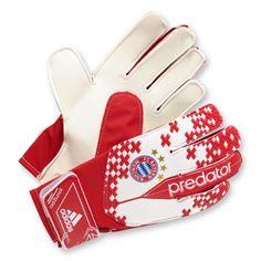 adidas Performance Torwarthandschuhe FC Bayern München Predator Young Pro, rot + weiß