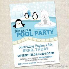 polar-bear-penguin-pool-party-winter-invite