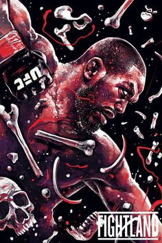 "Barbarian themed artwork of Jon ""Bones"" Jones : if you love #MMA, you'll love the #UFC & #MixedMartialArts inspired fashion at CageCult: http://cagecult.com/mma"