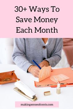 30+ Ways To Save Money Each Month Ways To Save Money, Make More Money, Make Money From Home, Make Money Online, Saving Ideas, Money Saving Tips, Money Change, Household Expenses, Best Savings