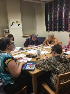 Pendleton Public Library Teen & Adult Coloring Club February 1, 2017. We meet at 5:30pm on the first Wednesday of the month,