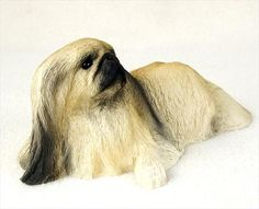Pekingese Statue Figurine Home & Garden Decor. Dog Products & Dog Gifts.