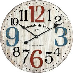 Large Round Antiquite de Paris Wall Clock 60cm