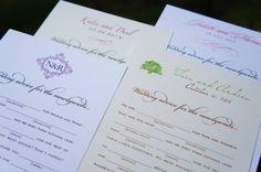 SAMPLE KIT for Custom Wedding Mad Libs & Wedding Advice Comment Cards. $5.00, via Etsy.