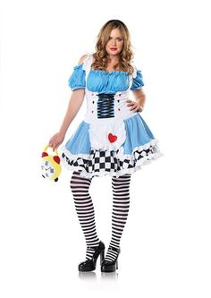 Miss Wonderland Costume - Plus Size 3X/4X - Dress Size 22-26 @ niftywarehouse.com
