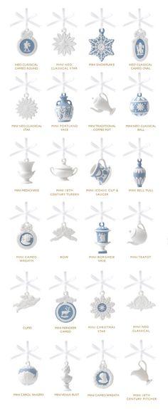 Wedgwood Christmas Advent House Ornaments