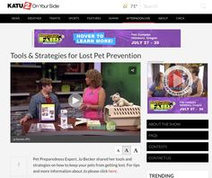 Lost Pet Prevention & The Pet Planner http://katu.com/afternoon-live/lifestyle-health/tools-strategies-for-lost-pet-prevention