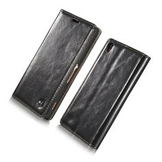 """Phone Cases For Sony Z5 Case With Unique Metal Logo Luxury Durable Leather Wallet Bag Magnet Flip Cover For Sony Xperia Z5 5.2"""""""