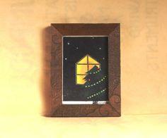 クリスマス (木版画ポストカード額縁セット)