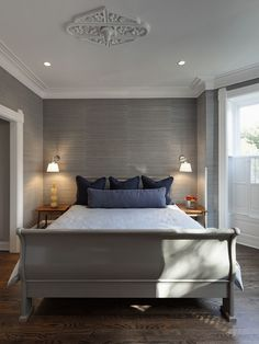Textured Grasscloth Wallpaper Design...Hallway