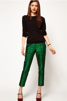13 Festive Party Pants To Slip Into This Season #refinery29