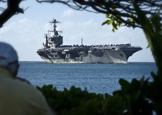 The Nimitz-class aircraft carrier USS John C. Stennis (CVN-74) returns to Joint Base Pearl Harbor-Hickam.