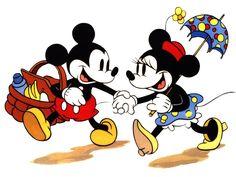 Fondo de Pantalla de Dibujos Animados: Mickey y Minnie - Picnic