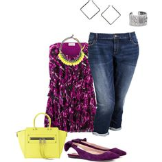 """plus size casual spring look"" by kristie-payne on Polyvore"