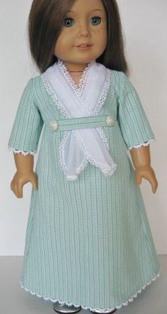 Summer Regency Dress for American Girl Doll. $56.00, MyAuntGinny via Etsy.