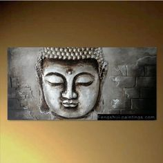Buddha Hand Painted Modern Contemporary Abstract Oil Painting Canvas Wall Art Framed 8911, By Fengshui-paintings.com // $199.99  Features: - Copyright Protected, PLEASE ALLOW 3 WEEKS for painting and shipping - 100% Money Back Guarantee, Certificate of Authenticity included - Hand Painted, Oil on canvas, Framed/stretched ready to hang - Size: 24in x 48in - Buddha painting, feng shui oil painting, Custom Sizes Available-  >>Get Inspired! - Visit http://artcaffeine.imobileappsys.com