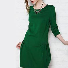 Eudora Women's New European Loose Thin Large Yard Long Sleeve Dress