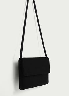 Flap leather bag - Bags for Woman   MANGO Lithuania