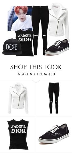 """""""BTS Jimin"""" by bill-board ❤ liked on Polyvore featuring Doublju, Boohoo, Christian Dior, Vans and 21 Men"""