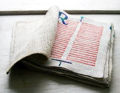 LINUM, a textile book tried to figure out the artist - let me know if you know! - jody
