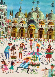 This Is Miroslav Sasek -  Czech illustrator Miroslav Sasek's set of reissued children's travel books