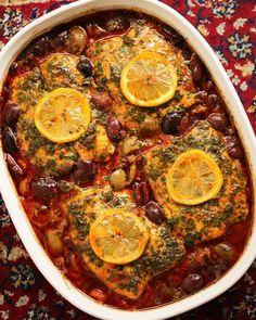 Moroccan fish tagine with ginger saffron recipe