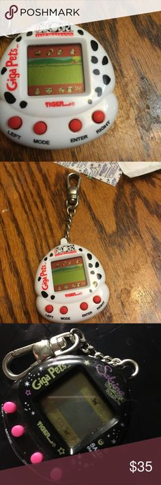 Giga pets 101 dalmatians , baby T-Rex , and Sabrina the teenage witch Salem the cat giga pets . All for 35 . Used but no damages . Sabrina has scratches but still works according to last test , and the t rex some of its words are scratched off due to age and played with but still works ok . 101 dalmatians works as well. Other