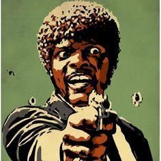 Модная картина постер на холсте Pulp Fiction Jules (Криминальное чтиво)