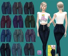 High Waist Jeans at Gisheld • Sims 4 Updates