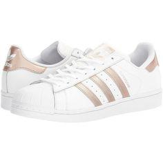 save off 1f338 9055f Adidas superstar blancas con rayas cobre para mujer 2017 Outfit Con  Zapatillas Blancas, Rayas Negras