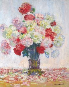 Vase of Peonies, Claude Monet 1882