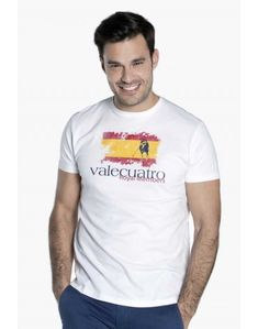 Valecuatro camiseta España estampado blanco