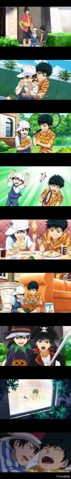 New Prince of tennis: Ryoma and Ryoga Echizen. jme