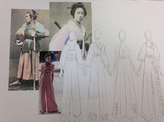 Board 7  #Japan #Samurai #AlexanderMcQueen #McQueen #Fashion #FashionIllustration #Design #Project