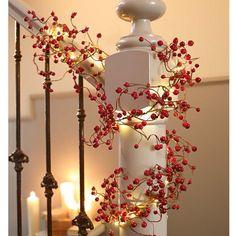 LED-Lichterkette Beeren, warm-weiß, ein traumhafte Weihnachtsdeko
