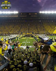 Maize shines brightest UNDER THE LIGHTS... Michigan-Notre Dame
