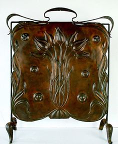 Embossed Copper Fire Screen