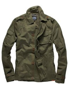 Scotch And Soda - Men&39s Army Green Shirt Jacket with Detachable