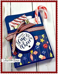 Easy Christmas Treats, Christmas Craft Fair, Christmas Crafts For Gifts, Christmas Gift Box, Christmas Cards, Xmas, Treat Holder, Treat Box, Fun Crafts