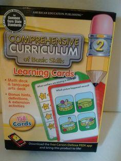 Grade 2 Com Curriculum Curricular Learning Cards 158 Math Language arts home  #AmericanEducationPublishing