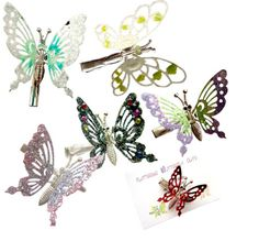 Butterfly Clips - springs even made their wings move!