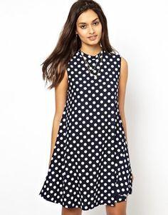Glamorous – Swing-Kleid mit Punktmuster