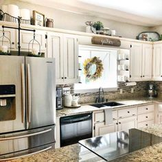 Decor On Top Of Cabinets Accessories Pinterest Kitchen