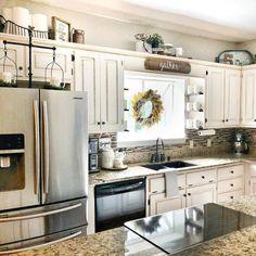 32 best decorating above kitchen cabinets images home decor above rh pinterest com