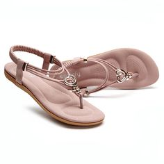 ecd1b27d4adb7d SOCOFY Metal Bohemia Slip On Clip Toe Flat Beach Sandals is comfortable to  wear. Shop on NewChic to see other cheap women sandals on sale.