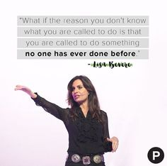 """""""You are unique, and without rival. There is something on your life that the world needs."""" - Lisa Bevere Thank you Lisa, for reminding us all to walk boldly in our calling. #PropelWomen"""